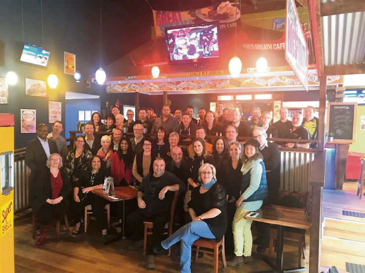 RBS Breakfast Club members at one of their meetings.