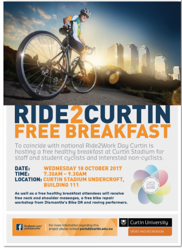 Ride 2 Curtin: Free Breakfast