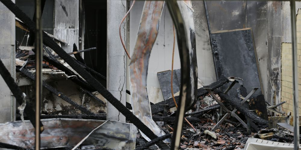 The fire damage at 192 Grand Promenade Doubleview. Picture: Andrew Ritchie d474697