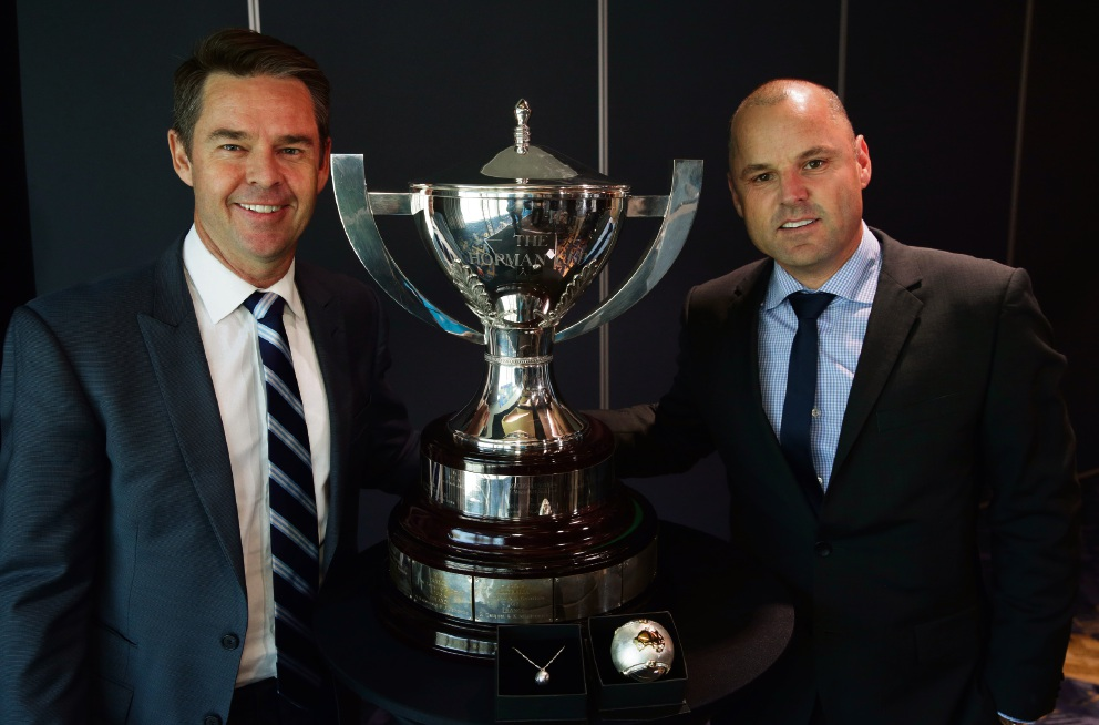Tood Woodbridge and Paul Kilderry with the Hopman Cup.