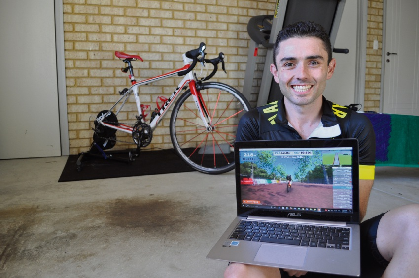 Anthony Sciano recently finished second at the Zwift KISS Australian eCrit Finale in Melbourne.