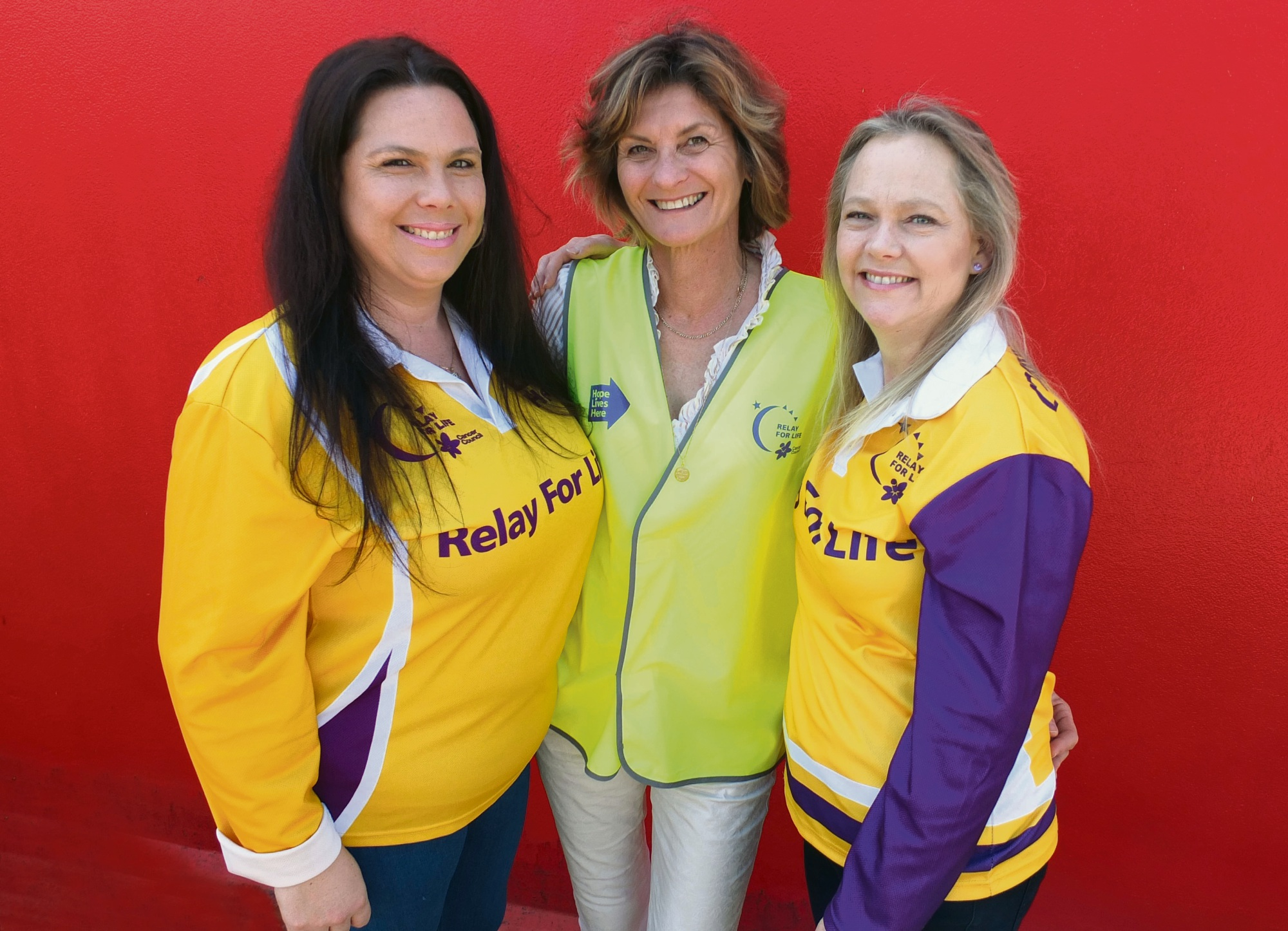 Relay for Life volunteers Kerry Boscarino-Hunter, Vanda Gates and Kim Boscarino.