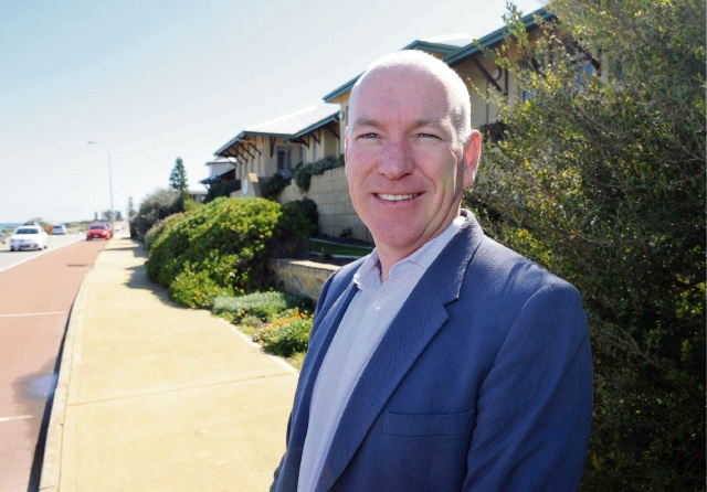 Curtin Care chairman David Cox is ready for any height battles.