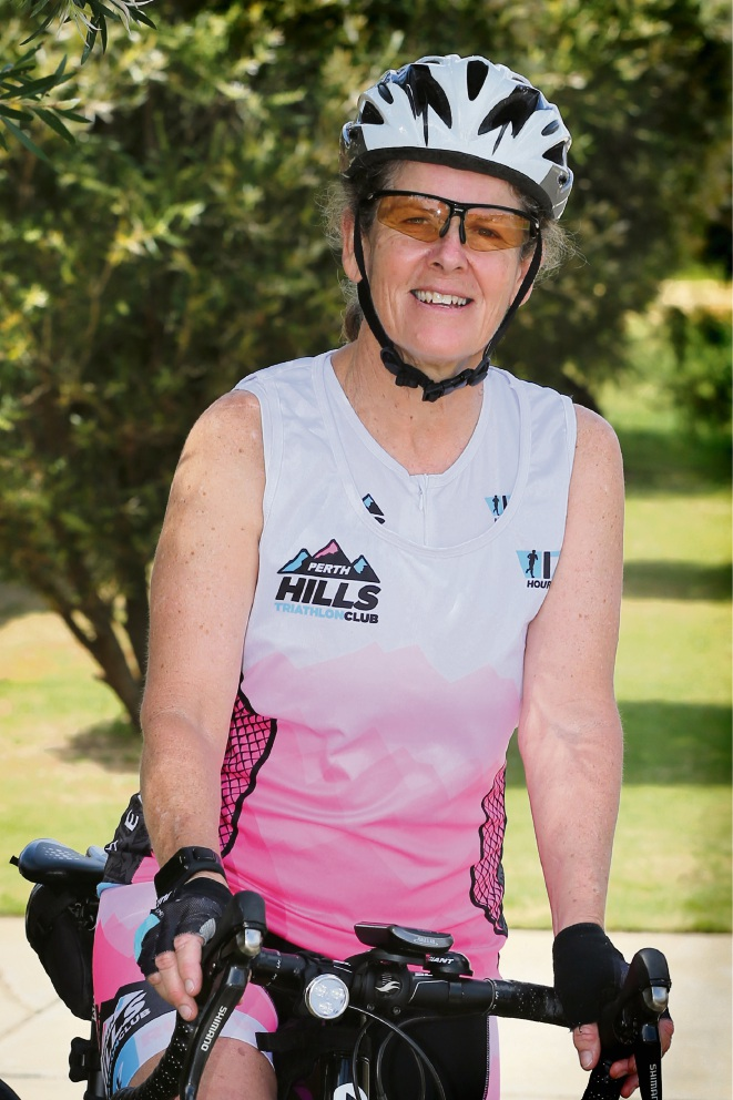 Armadale nurse and Perth Hills Triathlon Club member Monica Borrill.