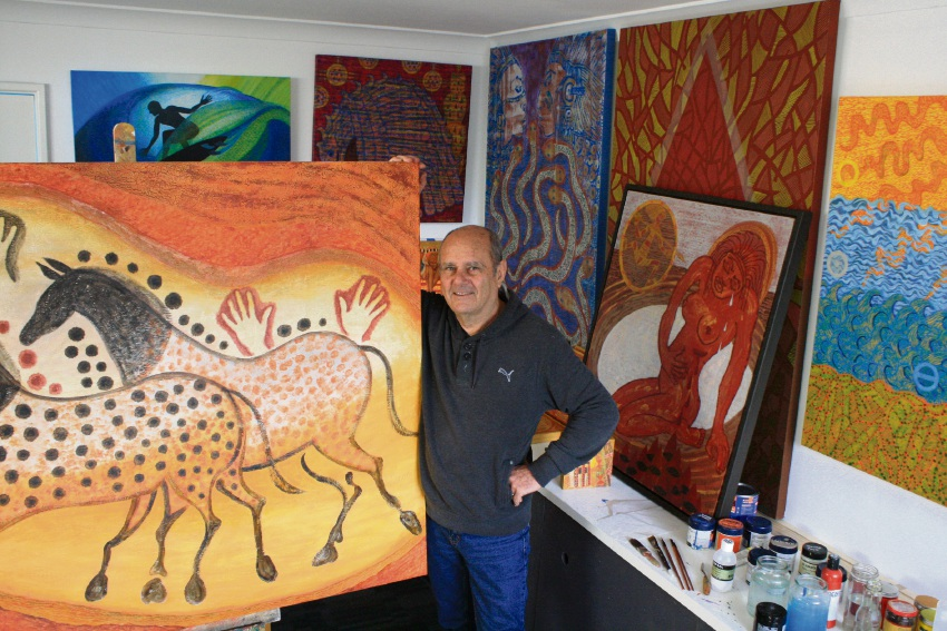 Artist Trevor Blyth prepares for this first solo exhibition.