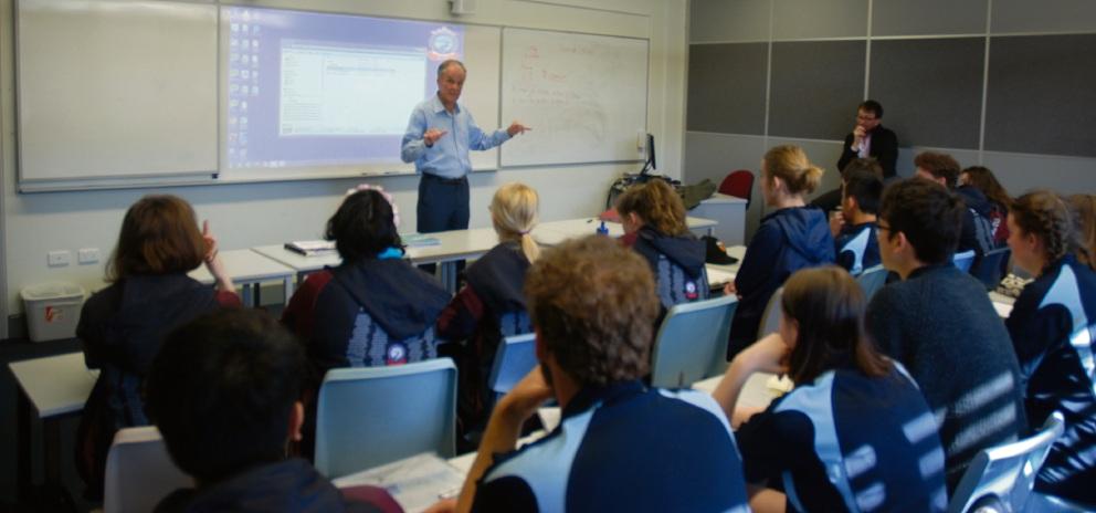 Emeritus Professor Ken Harrison shares some timely tips to Pinjarra Senior High School ATAR maths students.