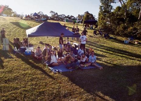 Patrons enjoying the Gidgestock Experience.