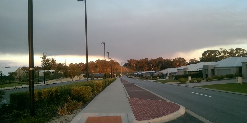 The smoke plume from the Serpentine and Karnet forest blocks burn off, as seen from Baldivis.