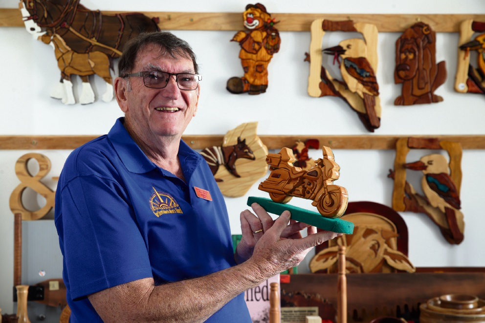 Northern Suburbs Men's Shed treasurer George Day. Picture: Martin Kennealey d473459