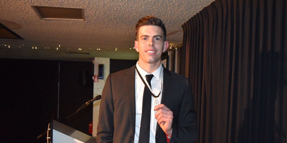 Former Collingwood ruckman Corey Gault won the Swan Medal on a night filled with emotion.