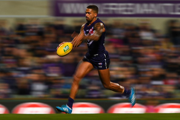 Bradley Hill of the Dockers. Picture: Daniel Carson/AFL Media/Getty Images