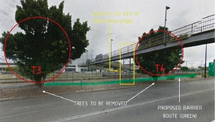 Planned improvements to an area of road and bridge deemed unsafe.