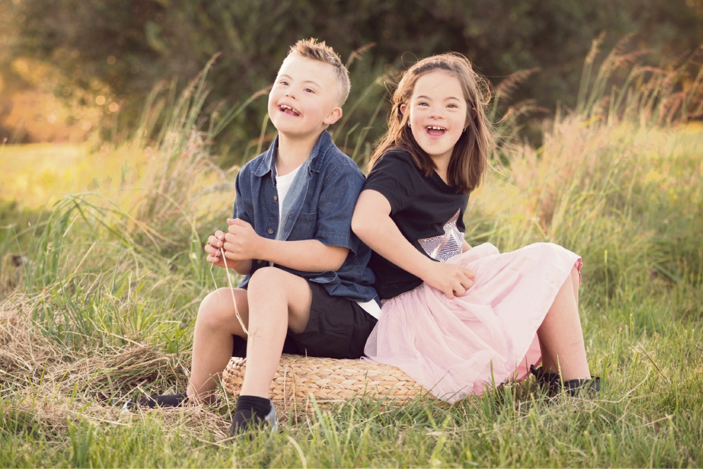 Best friends Wil Schwagermann and Lily McCain will take part in the Step UP! for Down Syndrome. Picture: KTJ Photography/Nicole Abbott