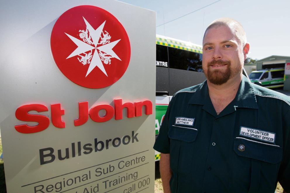 St John volunteer Matthew Guile.|Picture: Bruce Hunt    d474391