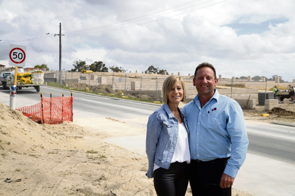 Anne and Joe Tropiano at The Crest at Landsdale. Picture: Martin Kennealey d474801