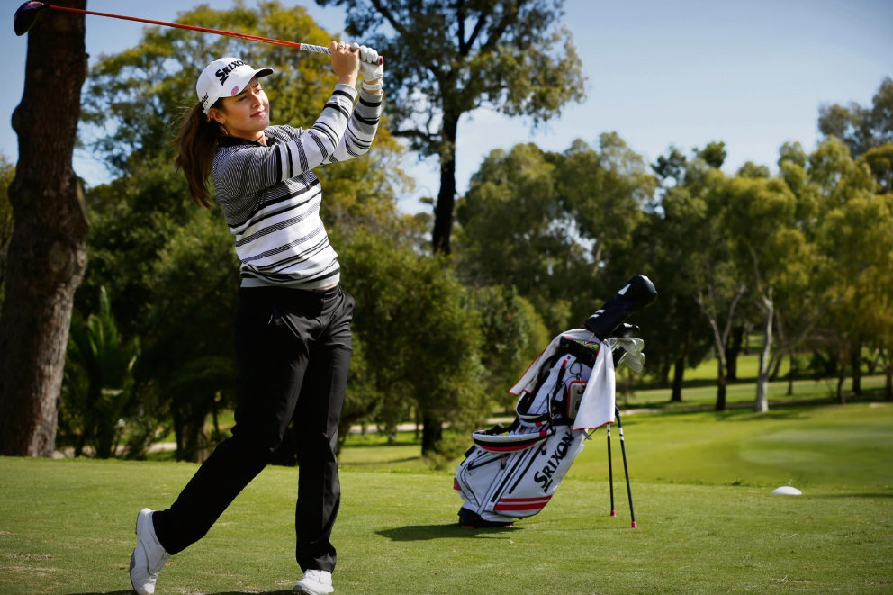 Hannah Green (21) from Lathlain is an emerging golf star. Picture: Andrew Ritchie www.communitypix.com.au d472894