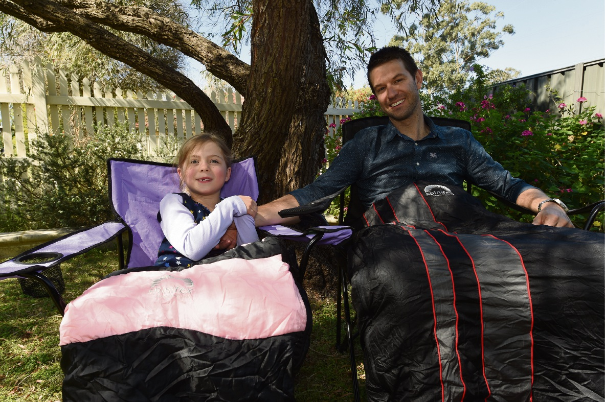 Ben Harper with daughter Lucca will be at The Fathering Project's sleepout at Subiaco Oval. Picture: Jon Hewson www.communitypix.com.au   d474662