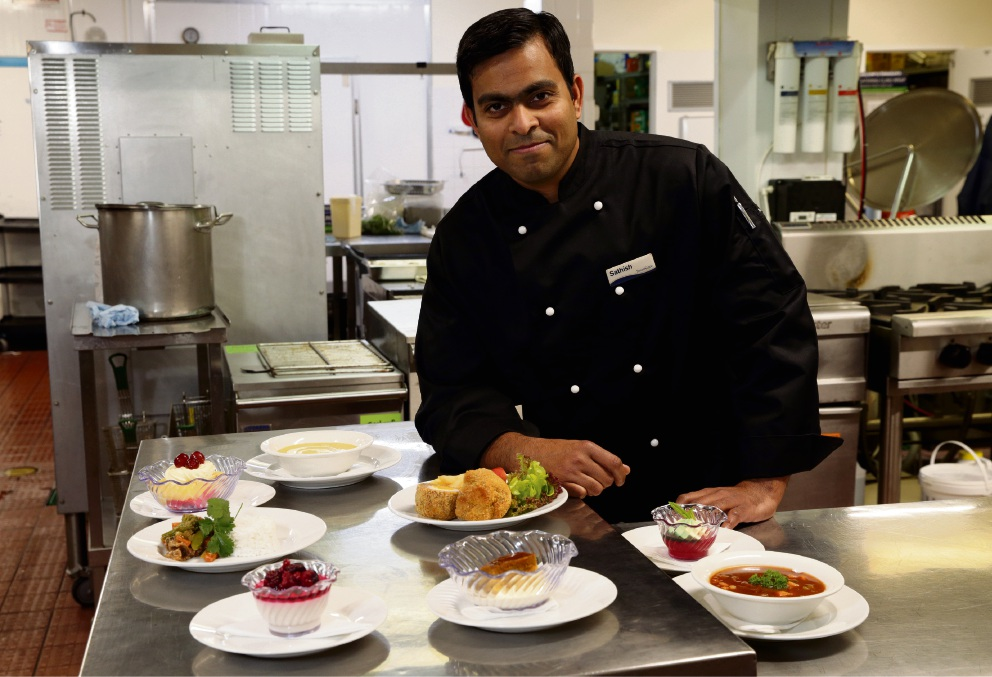 Chef Sathish Kumar has been encouraged to add new flavours at SwanCare. Picture: Martin Kennealey   d473901