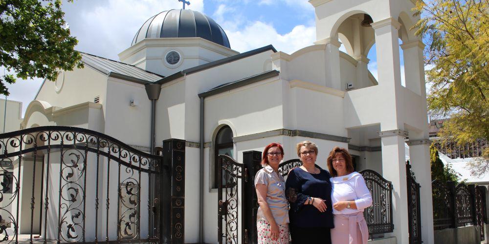 Marija Popovic, Oksana Sadova and Sofija Hilosevic from St Simeon Healthcare.