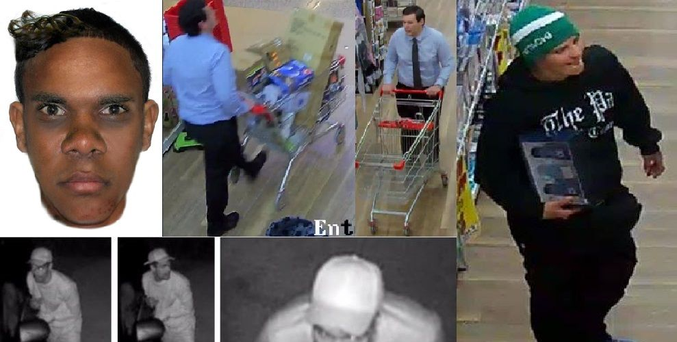 Rockingham and Kwinana police would like to speak to the people pictured in relation to incidents throughout the region in recent weeks.