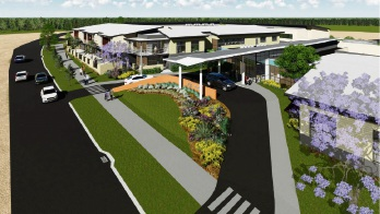 Artist's impression of the nursing home