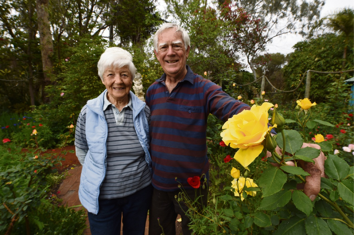 Barry and Lorraine Young at Amanda's Garden. Picture: Jon Hewson d474891