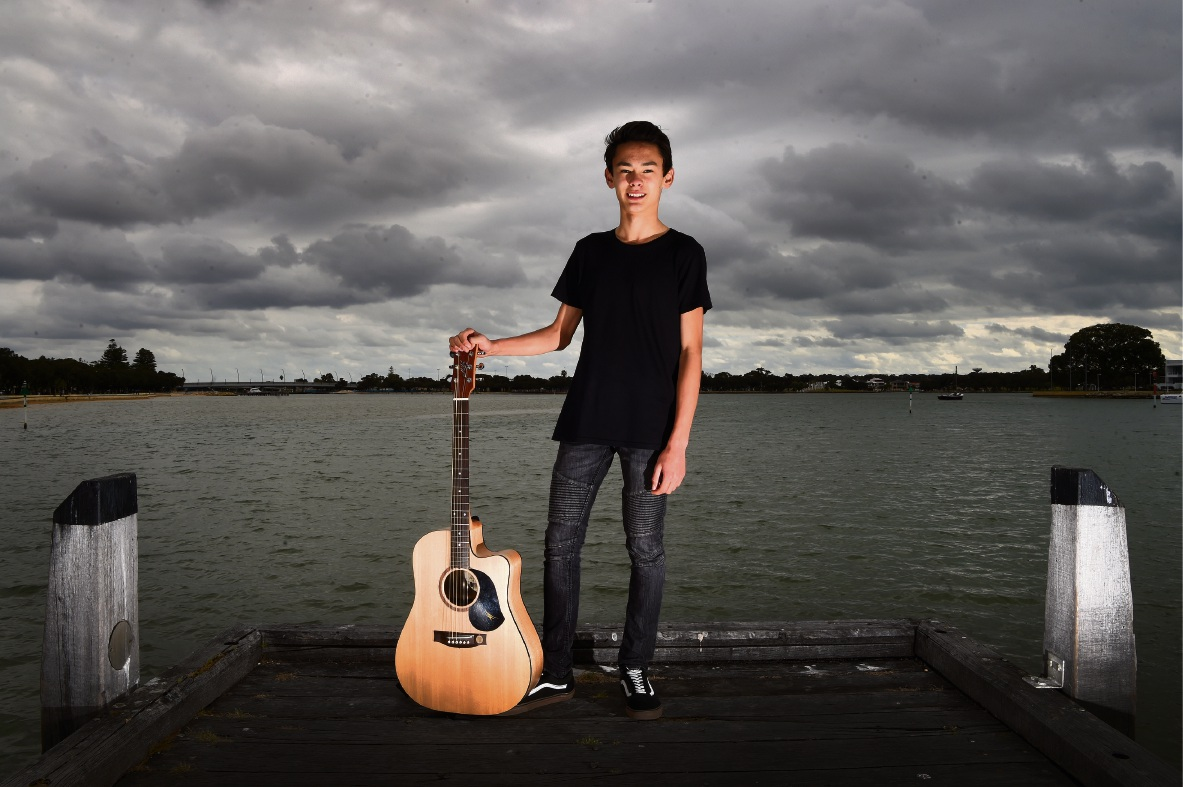 Nasman Donovan (14) has made the top 12 in the seniors category for Kelmscott Idol. Picture: Jon Hewson www.communitypix.com.au d474616