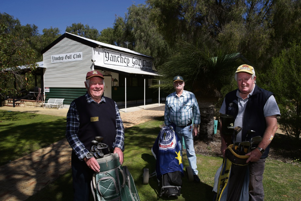 Yanchep Two Rocks RSL members Malcolm Gow, Bill Jones and Hugh Lesley.  Picture: Martin Kennealey www.communitypix.com.au   d474977