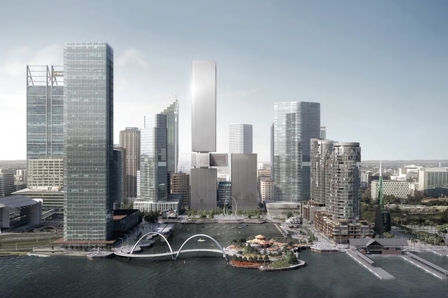How the revamped Perth skyline would look. Photo: REX