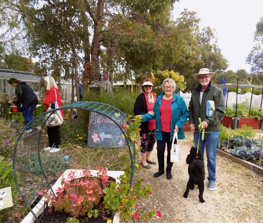 Some of the visitors at the community garden.