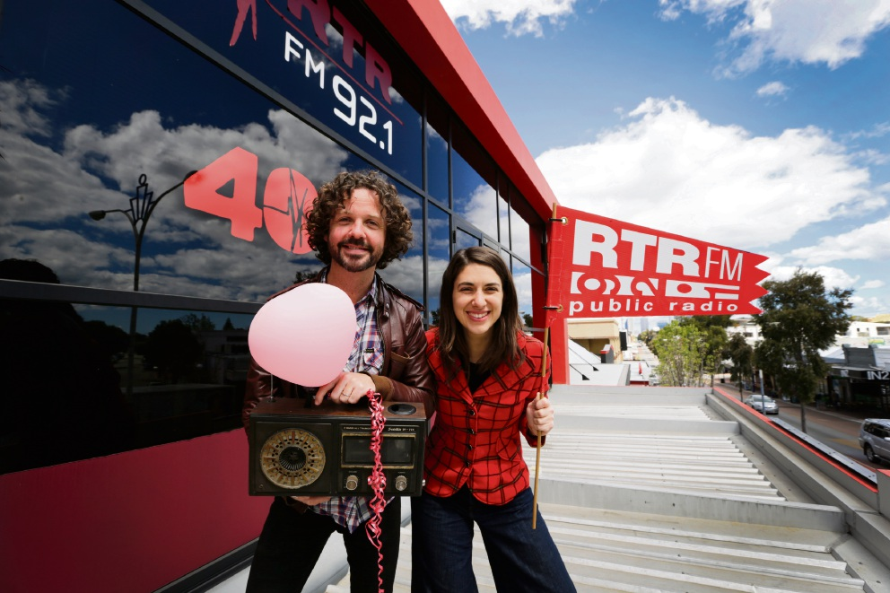 RTR FM general manager Stu MacLeod with breakfast presenter Caitlin Nienaber. Picture: Andrew Ritchie