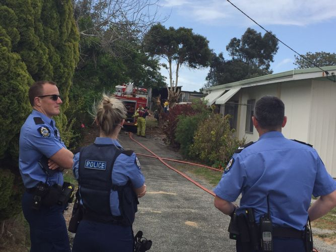 Fire engulfs shed in central Mandurah