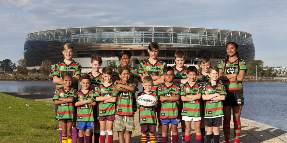NRLWA Perth metro juniors at Perth Stadium.