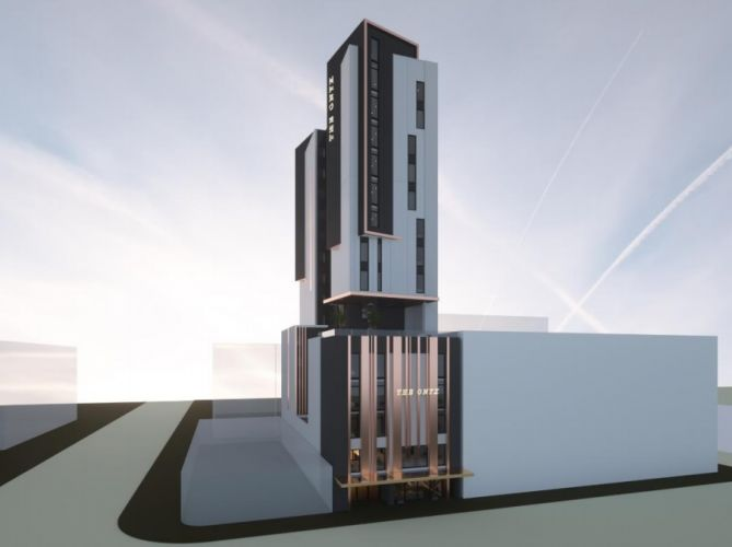 Artist's impression of the proposed hotel.
