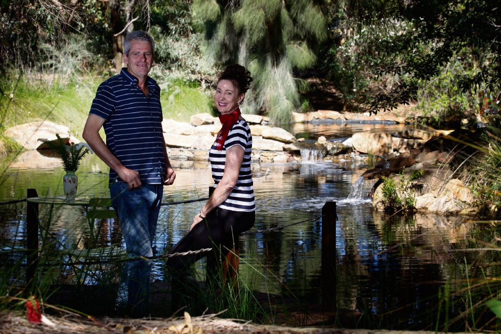 Phil and Bronwyn Genoni at their Banjup property. Picture: Marie Nirme