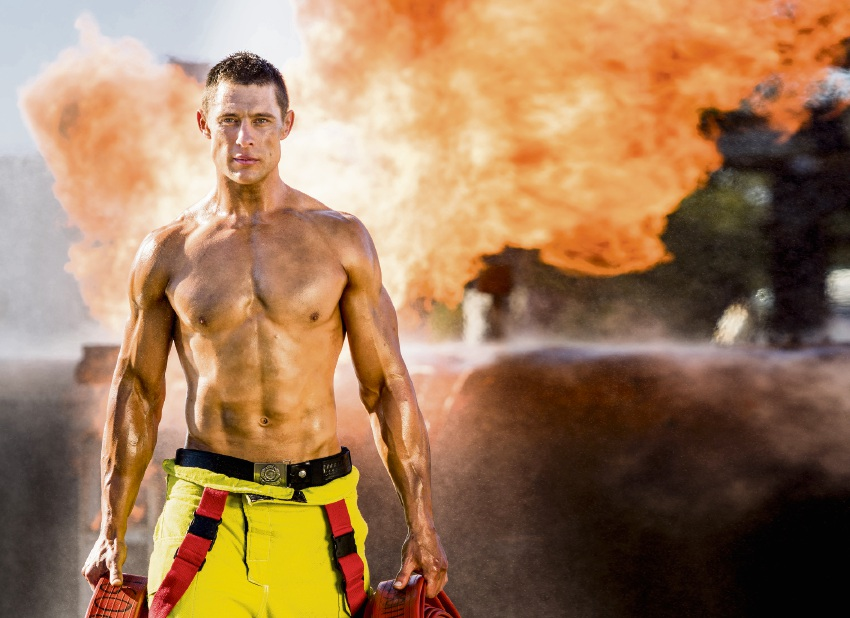 Canning Vale fire fighter Tom Harper.