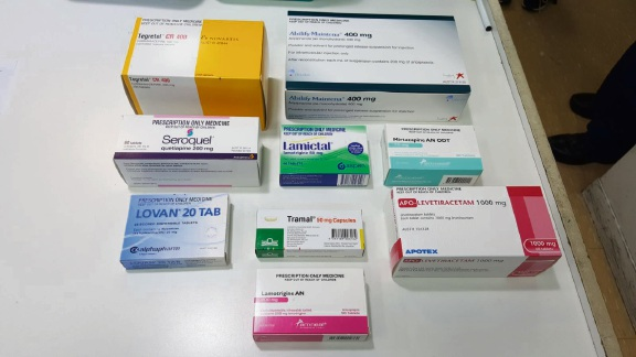 Some examples of the drugs stolen from a Gosnells chemist.