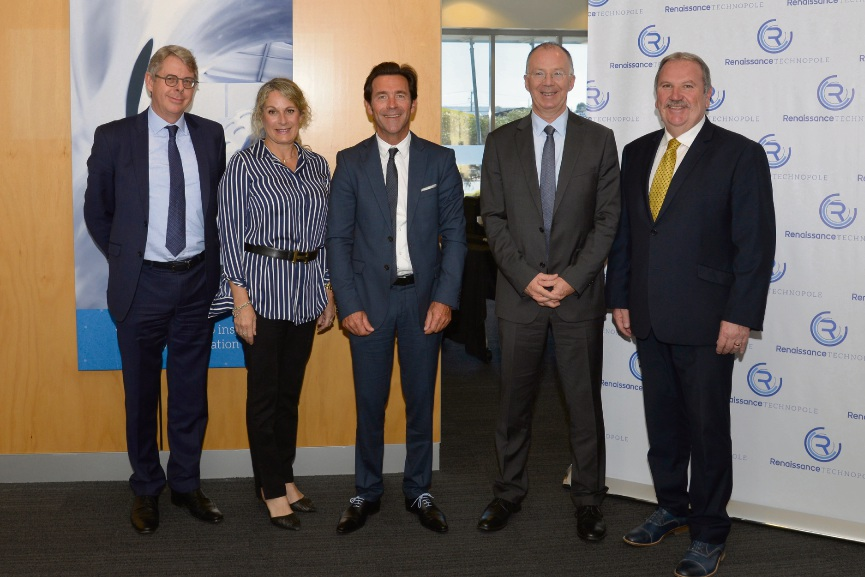 Mark Tidman (City of Rockingham Investment Attraction Manager), Christine Caseris (French Australian Chamber of Commerce), Yannick Vergez and Serge Boniface (Groupe FIVA) and Mayor Barry Sammels.