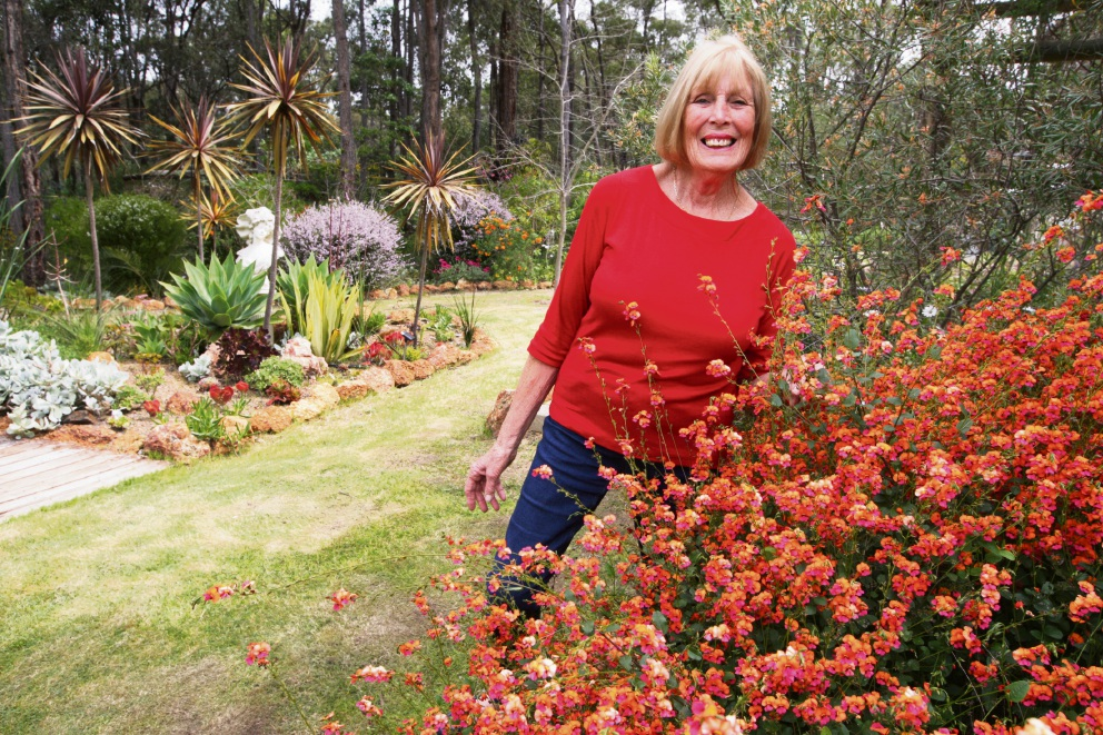 Elaine Borshin is having an open garden day for charity. Picture: Bruce Hunt d473969