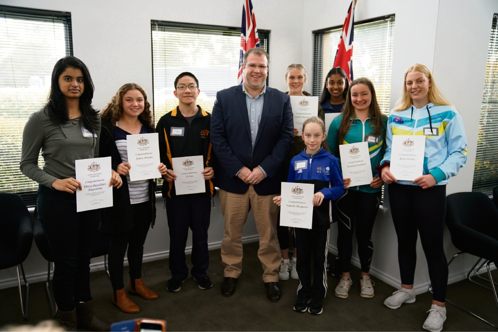 Tangney MHR Ben Morton with the recent round of Local Sporting Championship grant recipients from the Tangney electorate.
