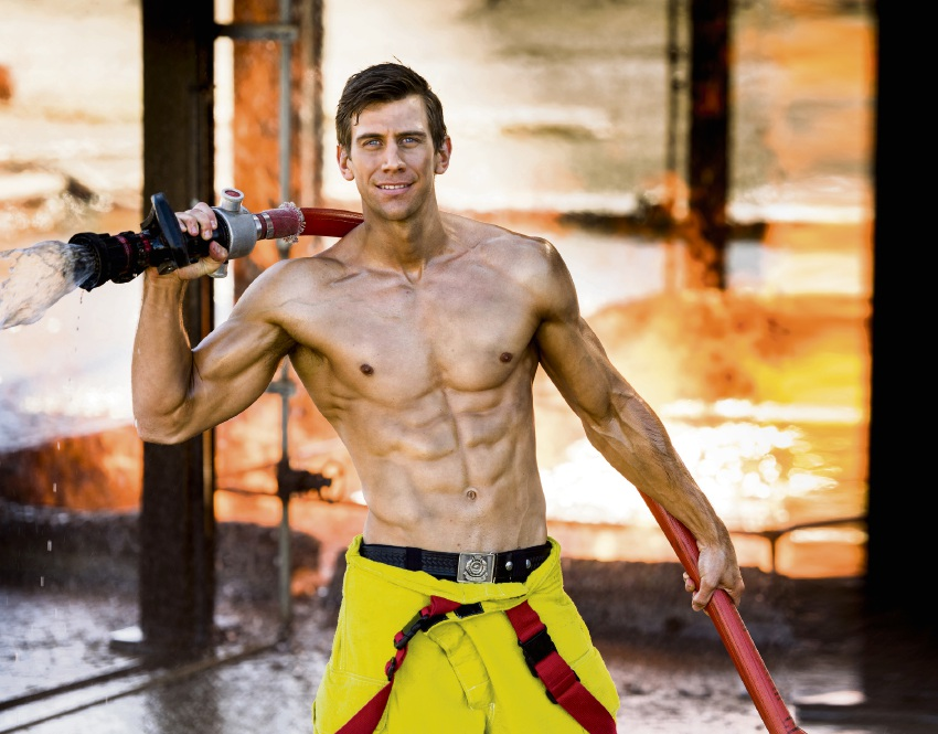 Rivervale firefighter Mark Deering is Mr August in the 2018 Perth Firefighters Calendar, raising money for the Perth Children's Hospital Foundation.