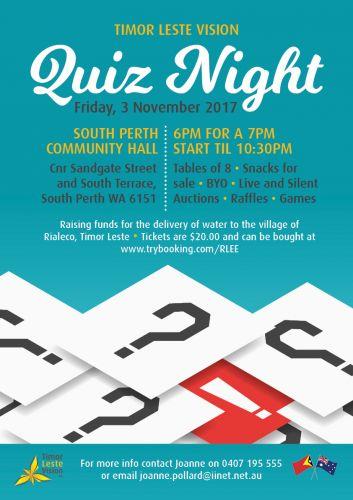 Timor Leste Vision's (PERTH) Quiz Night