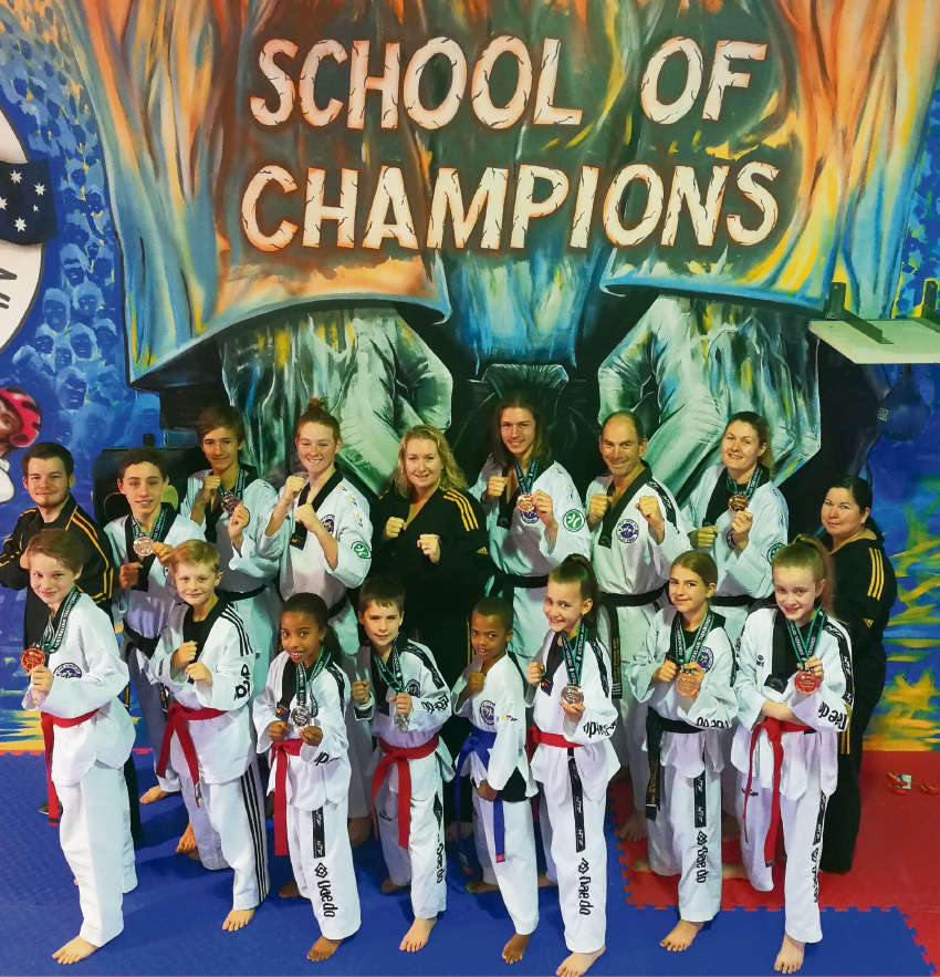 The Taekwondo Oh Do Kwan members from Port Kennedy who did well in the nationals.
