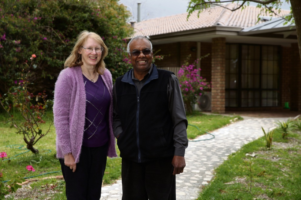 Joseph and Katherine Karunarathna (owners Sunflower Care Services). Picture: Martin Kennealey