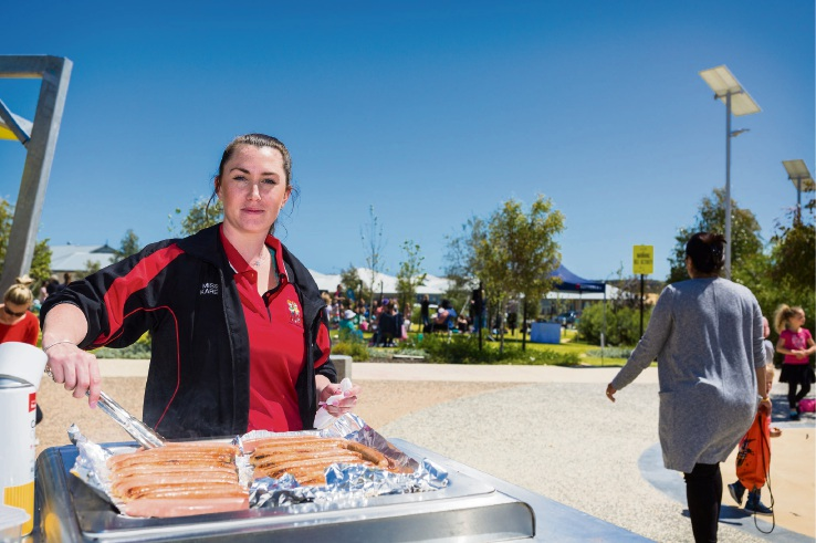 Joondalup Wolves Basketball Club who held a fundraising sausage sizzle.