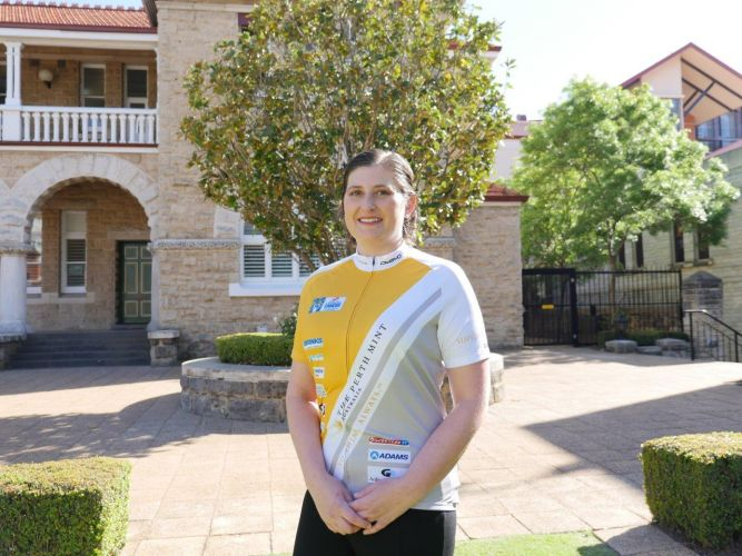 Bayswater mum of three Tanya Lawes is part of Perth Mint's Ride to Conquer Cancer team.