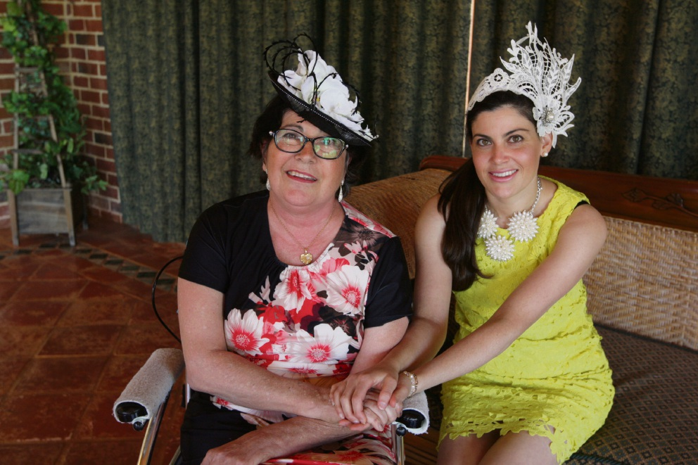 Rebecca Vella and her mother Margaret Bull. Picture: Bruce Hunt www.communitypix.com.au d475098