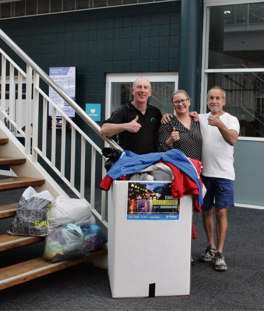 Customer service co-ordinator Nigel Crawley, commercial co-ordinator Char Wade and Arena Joondalup member Dave Bennet.