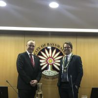 New City of Bayswater deputy mayor Chris Cornish and new mayor Dan Bull.