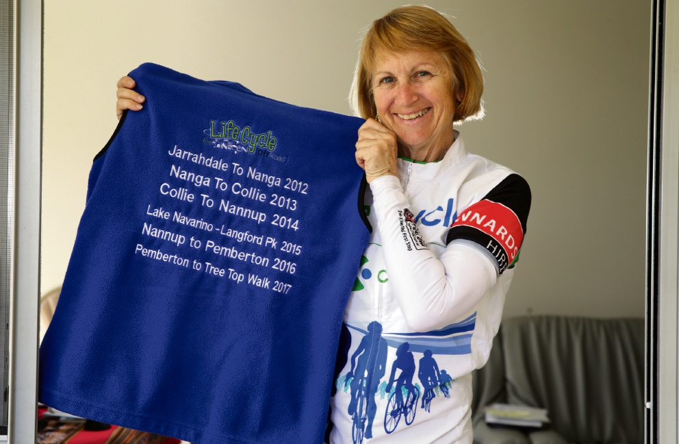 Cycling has been the basis of Jenny Aramini's contribution to the community.  Picture: Martin Kennealey d475195